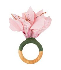 porta guardanapo azaléia em madeira - rosa