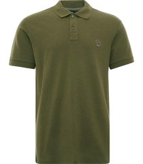 paul smith organic cotton-pique zebra polo shirt | khaki | m2r-183kz