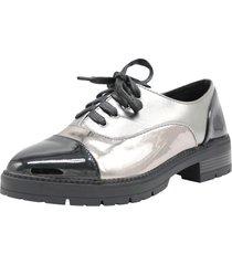 zapato oxford plata pand-g