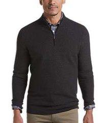 joseph abboud repreve® black modern fit 1/4-zip sweater