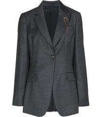beaded-brooch blazer