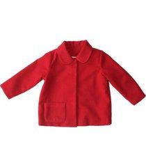 abrigo reina rojo maría pompón