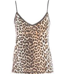 ganni rayon underwear thin strap top