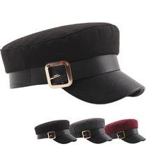 womens wild metal cintura cappello berretto da sole con berretto caldo antivento in feltro stile retrò