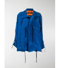 colville oversized drawstring rain jacket