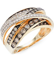 gladiator 14k honey gold™ chocolatier® chocolate diamonds® ring