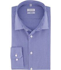 overhemd seidensticker geruit blauw strijkvrij