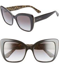 women's dolce & gabbana 54mm gradient butterfly sunglasses - black