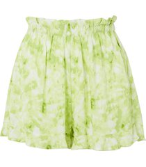 pampelonne ruffled tie-dyed crepe shorts