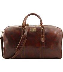 tuscany leather fc140860 francoforte - borsa da viaggio in pelle - misura grande marrone