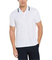 men's jacquard grid short sleeve polo shirt