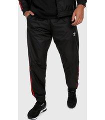 pantalón negro-rojo adidas originals trifolio 3 rayas