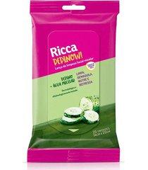 lenço de limpeza facial ricca micelar