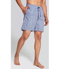bermuda de pijama mini print azul s