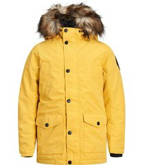 parka jack & jones plus size geel