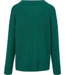 trui met v-hals van ftc cashmere groen