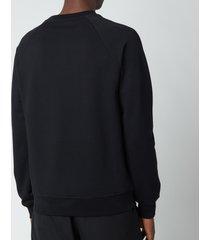 balmain men's flock sweatshirt - black/yellow - xl