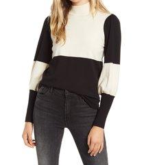 women's vero moda juliet sleeve pullover sweater, size small - ivory