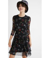 flared short dress - mickey mouse - black - xl