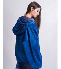 bluza oversize indigo fluffy hoodie