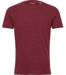 alder basic tee t-shirts short-sleeved röd knowledge cotton apparel