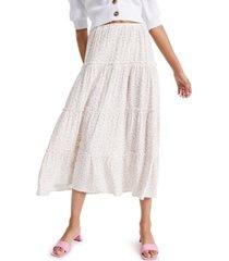 indigo rein juniors' floral-print tiered skirt