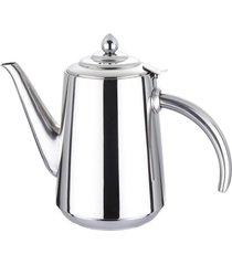 chaleira de cafã© em aã§o inoxidã¡vel espelhado com alã§as resistentes ao calor 50 oz 1500ml - prata - dafiti