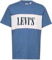 authentic colorblock tee authe t-shirts short-sleeved blå levi´s men