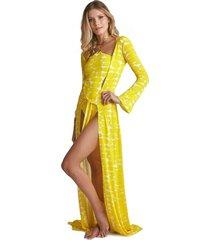 robe sixty estampa leblon amarelo - kanui