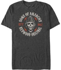 sons of anarchy men's redwood original grim reaper short sleeve t-shirt