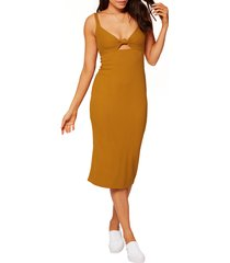 women's l space kaia sleeveless open back dress, size x-large - brown