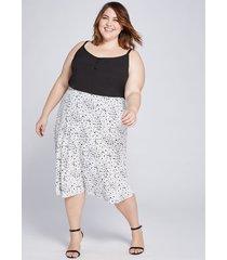 lane bryant women's textured midi skirt 28 black & white
