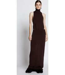 proenza schouler draped layered knit dress raisin/brown m