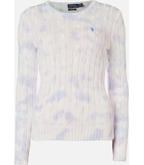 polo ralph lauren women's long sleeve sweatshirt - pastel - l