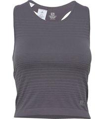 elevate move'on top w t-shirts & tops sleeveless grå salomon