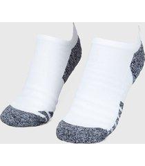 medias blanco-gris under armour ua armourgrip no show socks