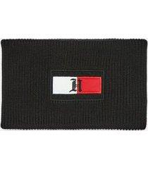 tommy hilfiger men's lewis hamilton flag neck warmer black -