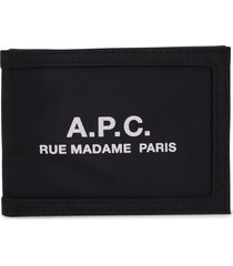 a.p.c. black card holder