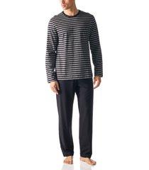 mey bodywear pyjama gestreept indigo