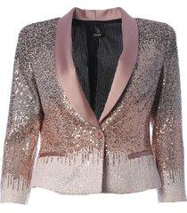 hanita bead embellished cropped blazer