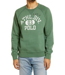 men's polo ralph lauren men's savannah logo graphic sweatshirt, size x-large - green