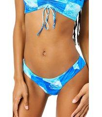 women's frankies bikinis marina bikini bottoms, size large - blue