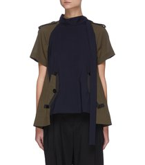 hybrid deconstructed suiting t-shirt