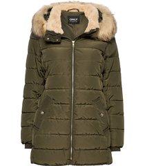 onlcamilla quilted coat cc otw gevoerd jack groen only