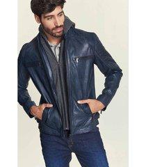 chaqueta vitale de cuero para hombre