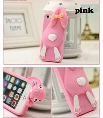 3d cute sprout rabbit soft silicon case for for iphone 4 4s 5 5s 5c fashion