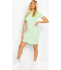 recycled basic short sleeve mini dress, mint