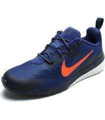 tenis azul-naranja-blanco nike ck racer 2