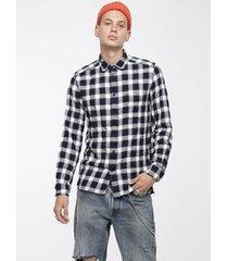 camisa masculina s-anob diesel azul