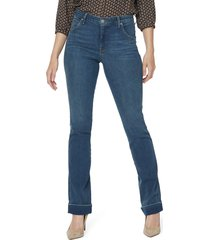 nydj cuffed slim bootcut jeans, size 0 in reverence at nordstrom